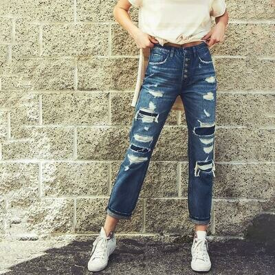 Patched Boyfriend Jean