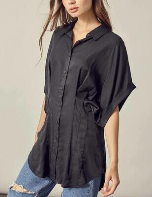 Fitted Waist Button-Up