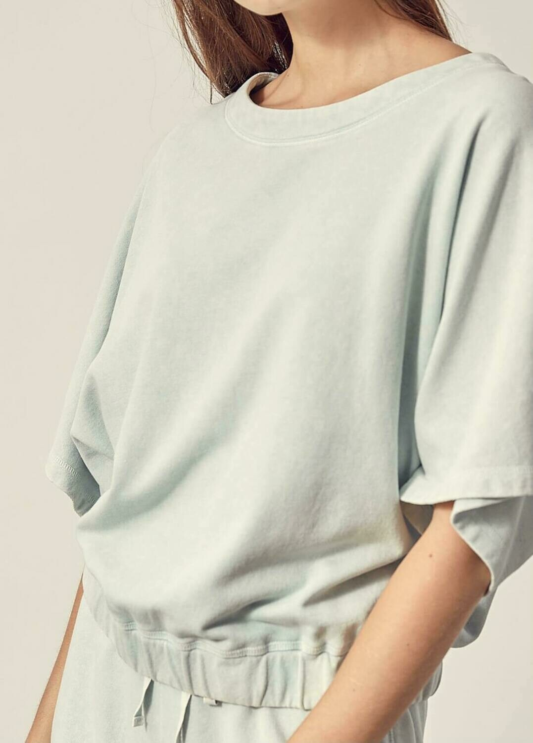 Cotton Loose Fit Lounge Top