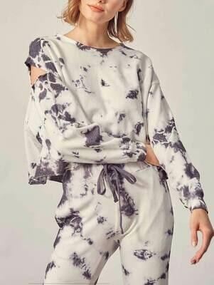 Gray Tie-Dye Sweatshirt