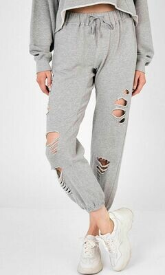 Distressed Jogger Sweatpants
