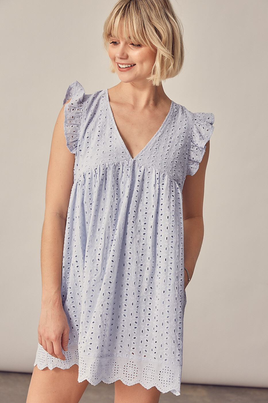 Eyelet Babydoll Romper/Dress