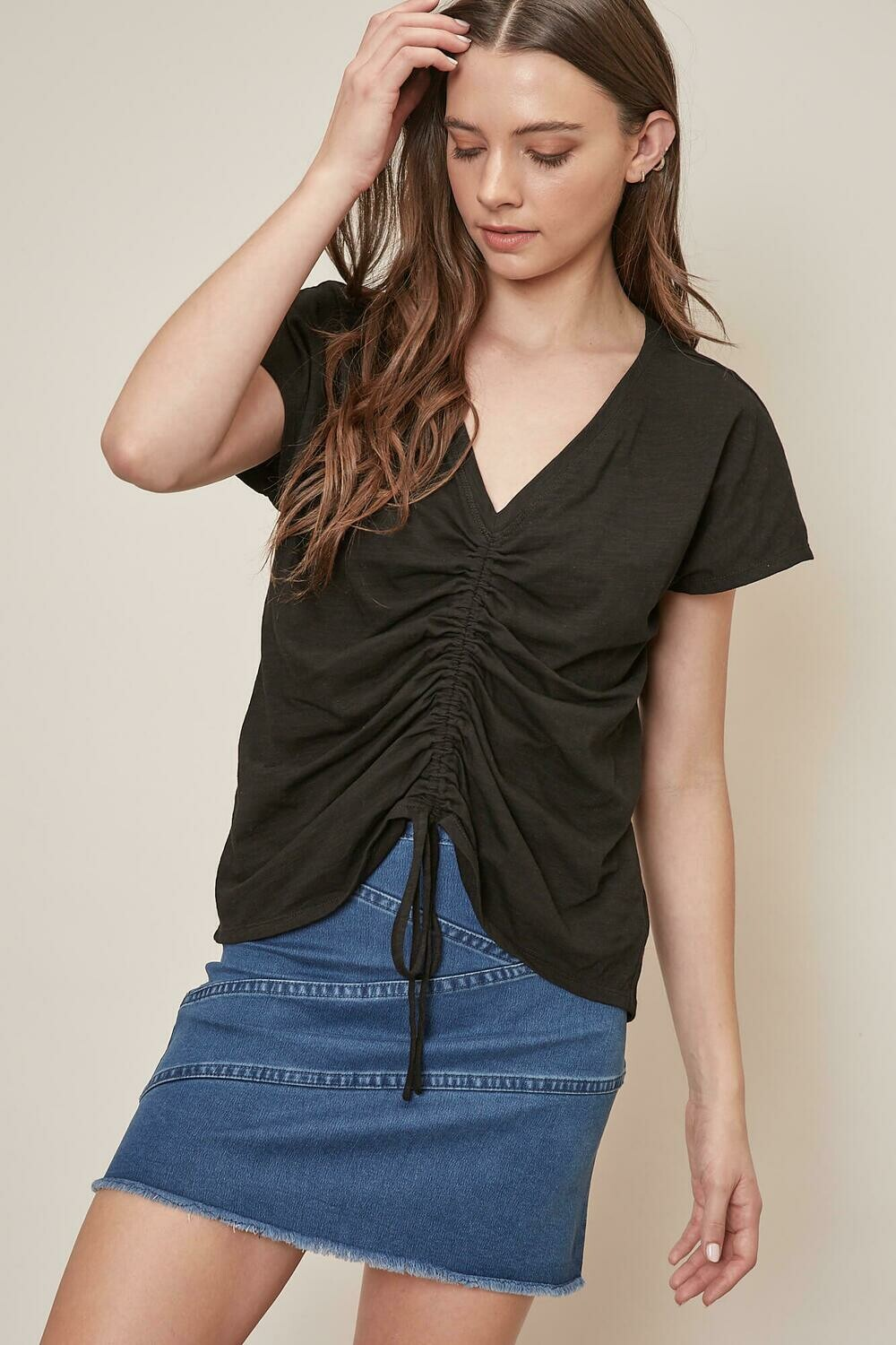 Front Cinched Tee