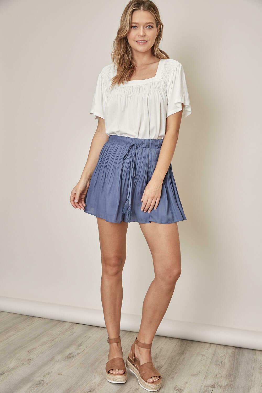 Blue Flowy Fit Shorts