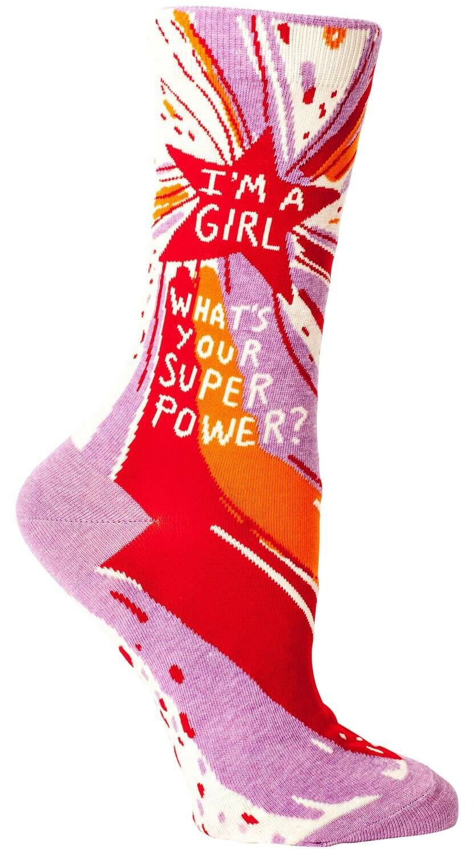 Superpower Crew Socks