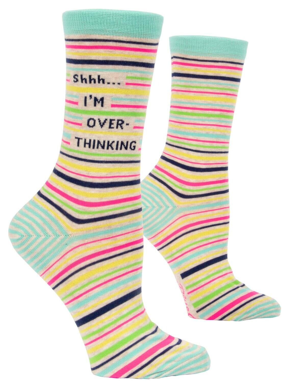Shhh...I'm Over-Thinking Crew Socks