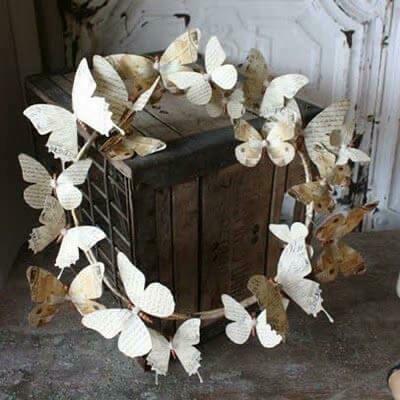 Script Butterfly Wreath
