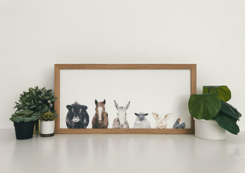 38x19 farm animals /10924