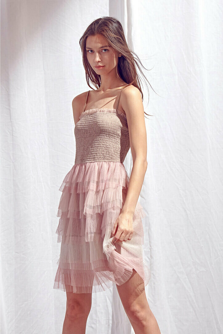 Smocked Tulle Dress