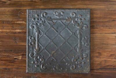 Antique black tin ceiling tile