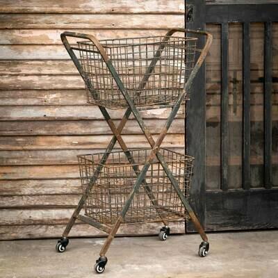 Double Market Cart w/Wheels