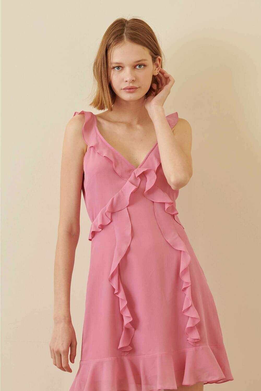 Fuchsia Ruffle Dress
