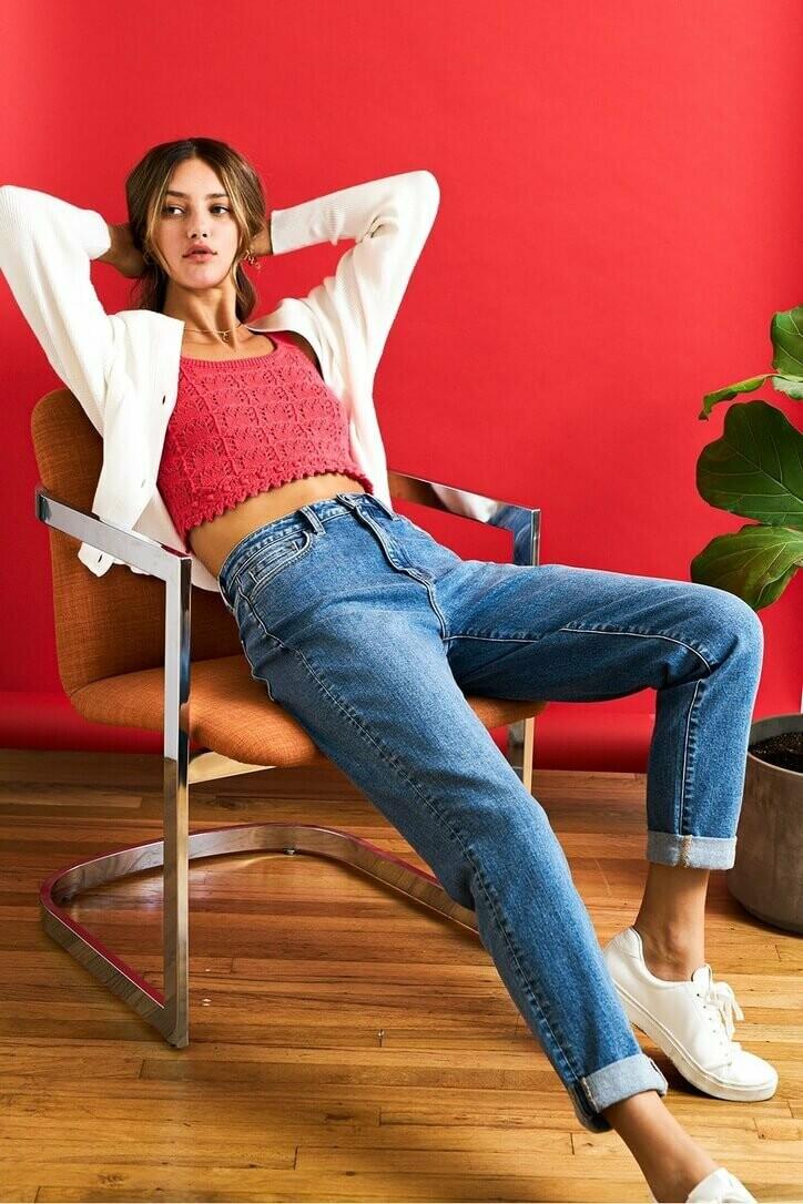 Flying Monkey Stretch Mom Jeans