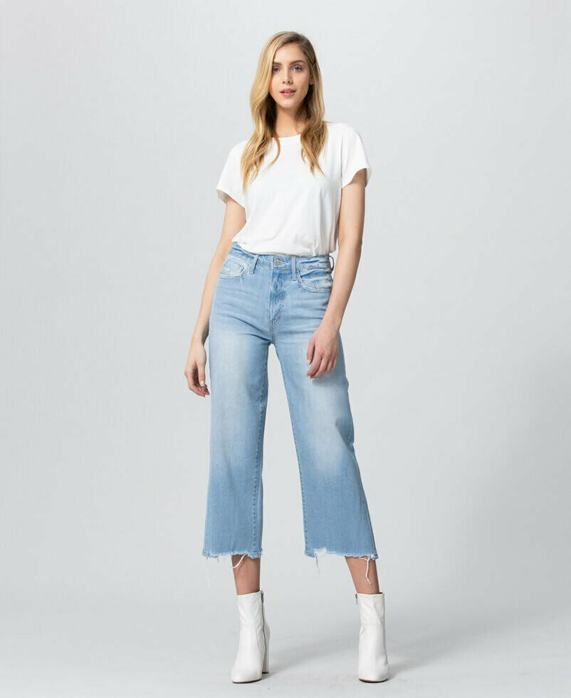 Vervet High-Rise Crop Wide Leg Jeans