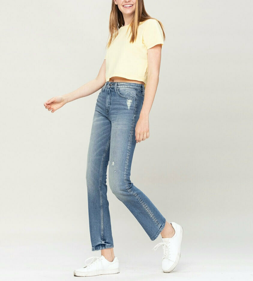 Vervet High-Rise Straight Leg Jeans