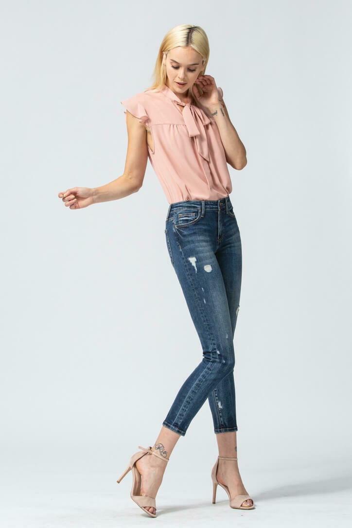 Flying Monkey Mid-Rise Crop Skinny Jeans