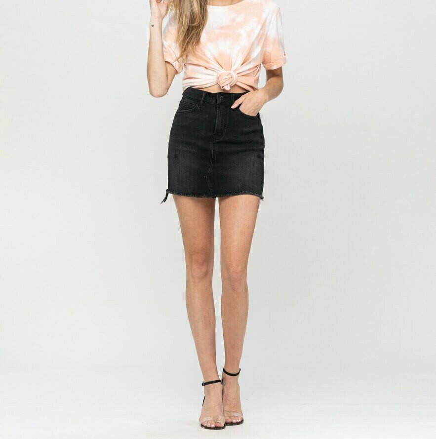 Vervet Black Denim Skirt