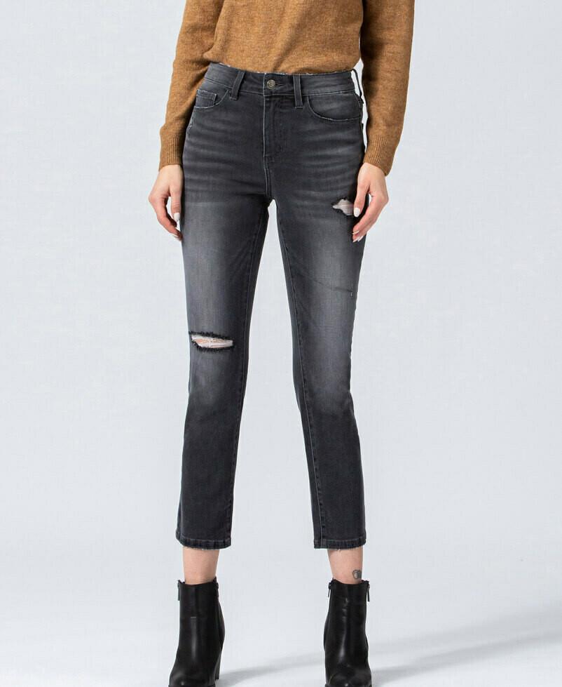 Vervet High-Rise Straight Leg  Jeans