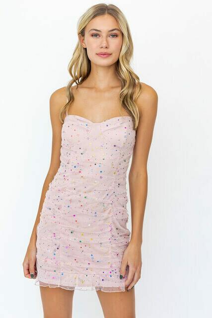 Pink Multi Star Dress