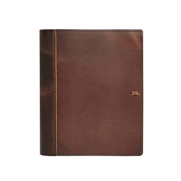 "Soft Leather Binder-5.5"" x 8.5"""