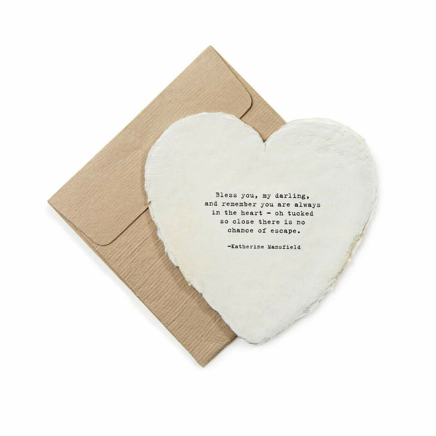Mini Heart Shaped Card & Envelope-Bless you, my darling,