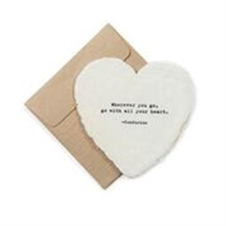 Mini Heart Shaped Card & Envelope-Wherever you go,