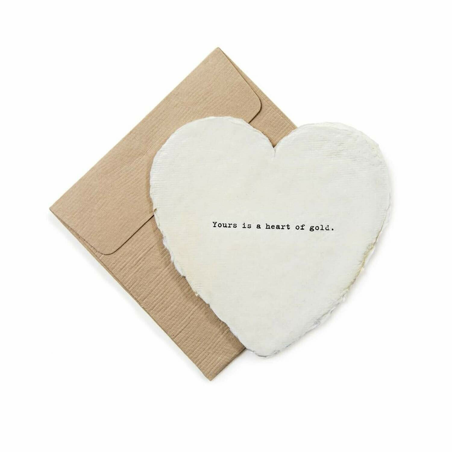 Mini Heart Shaped Card & Envelope-Yours is a heart of gold