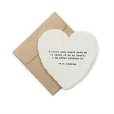 Mini Heart Shaped Card & Envelope-i carry your heart with me