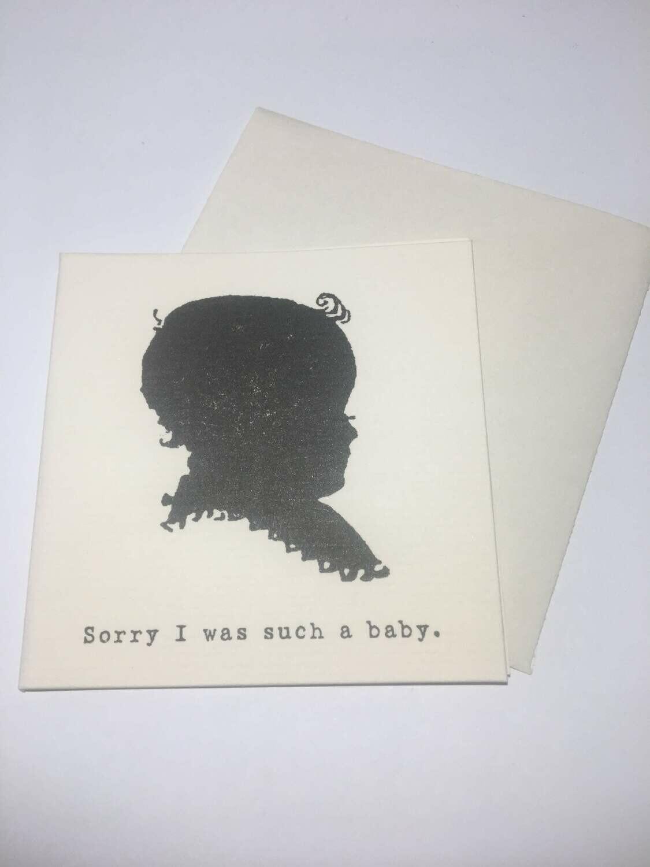 Apology Mini Card & Envelope