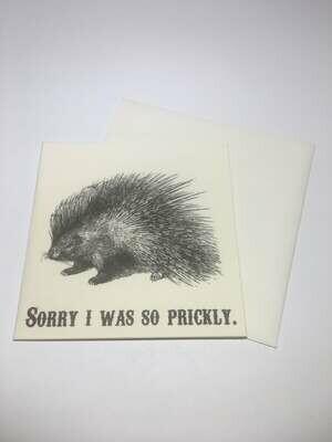 Apology Mini Card-Prickly