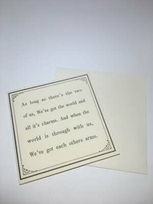 mini card-Two of Us /386
