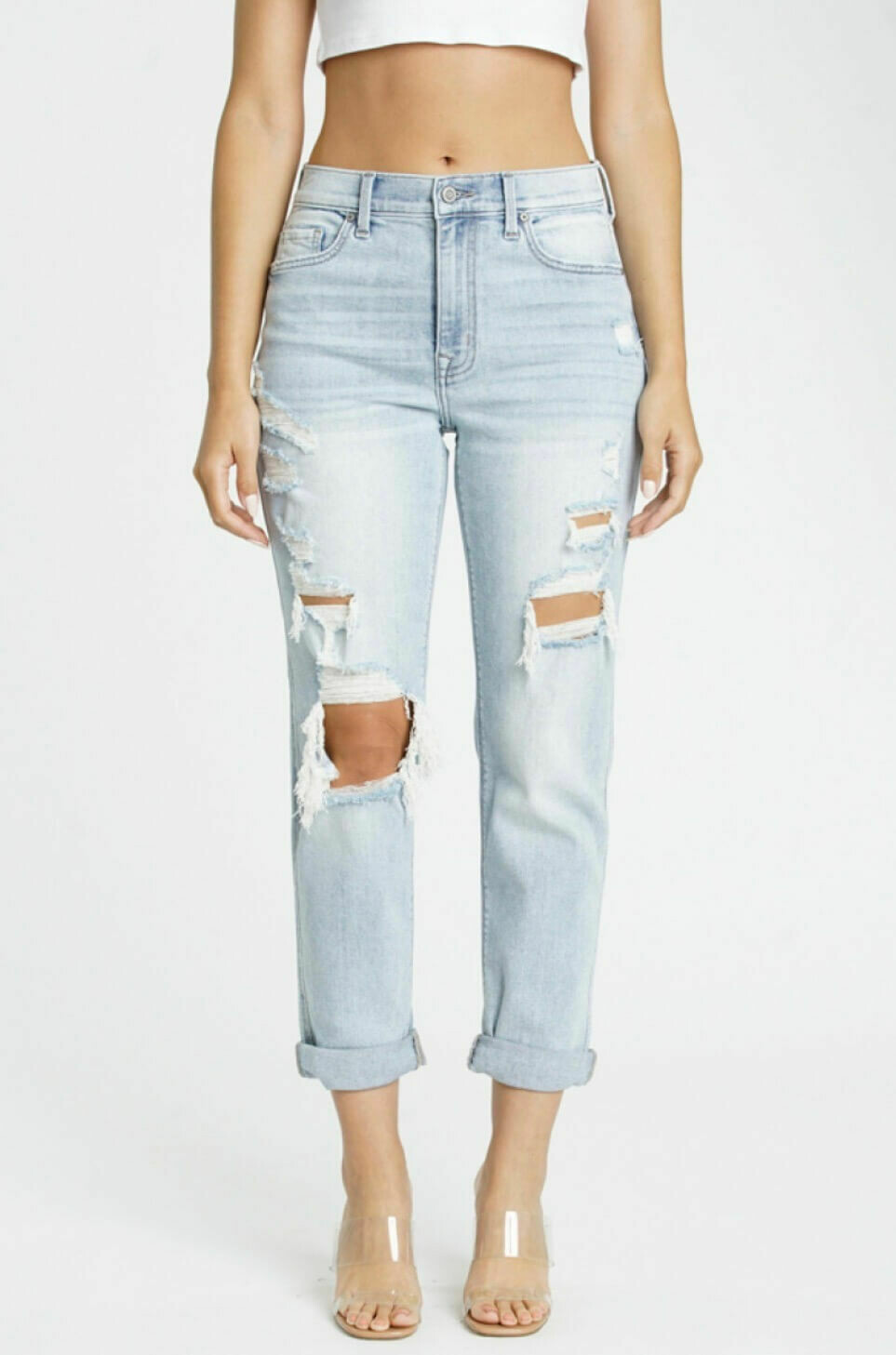 Rocky High Rise Boyfriend Jeans