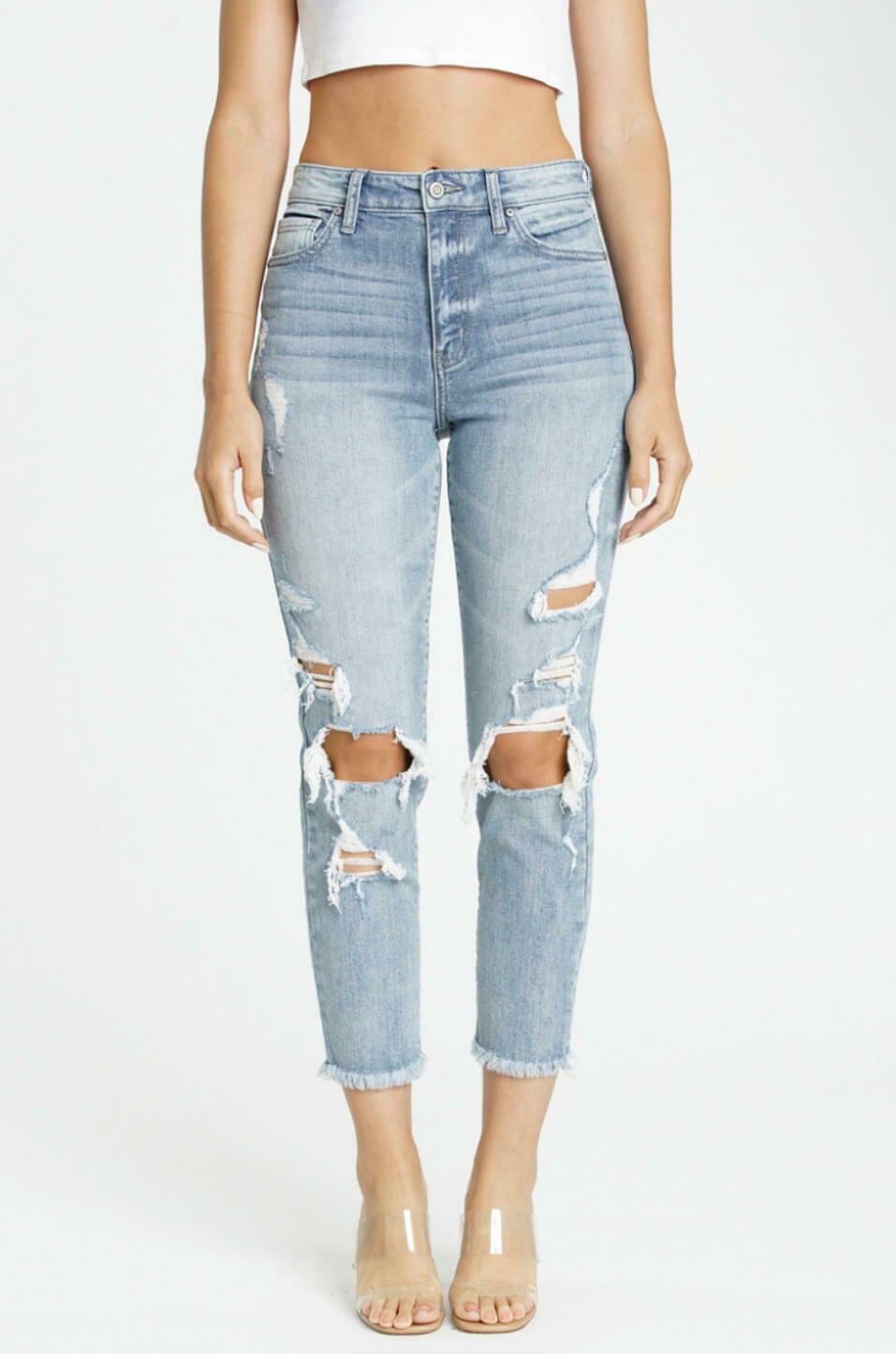Tobi Super High Rise Mom Jeans