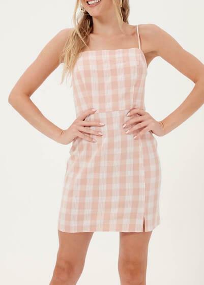Pink Check Cami Dress