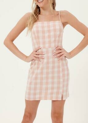 Pink Check Cami Dress