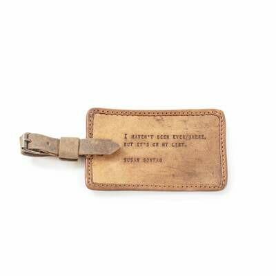 Susan Sontag Leather Luggae Tag