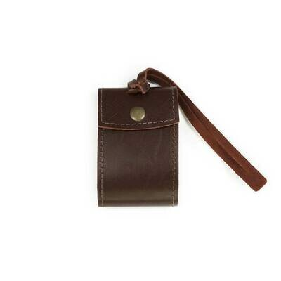 Security Leather Luggage Tag-Burgandy