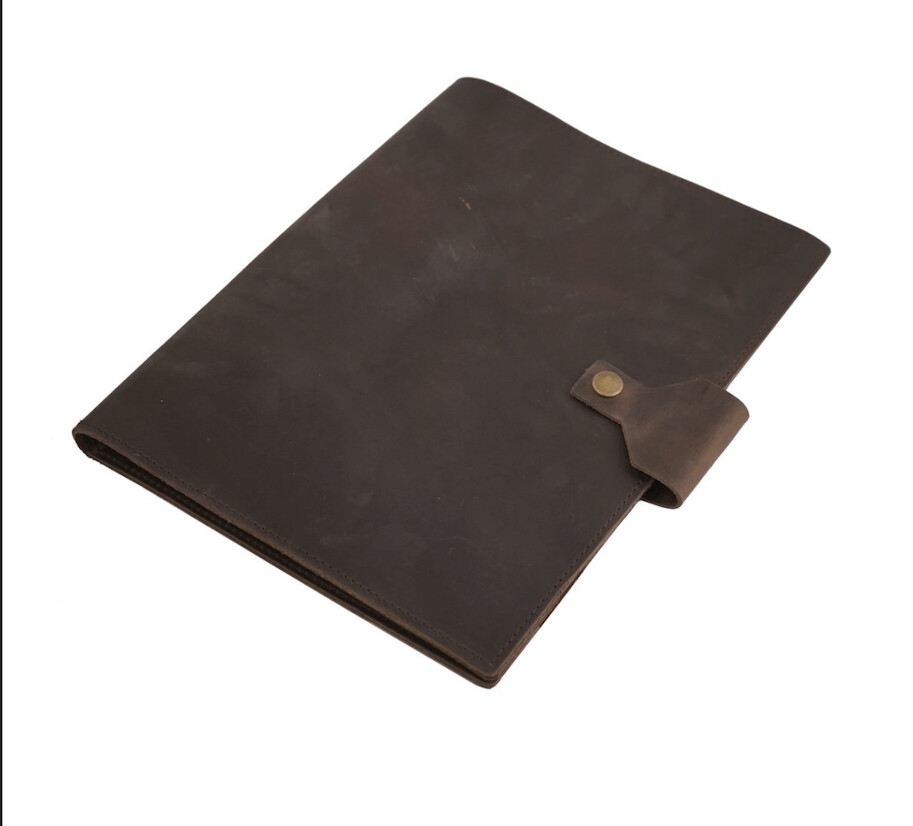 Rustico Leather Legal Pad Size Portfolio-Dark Brown