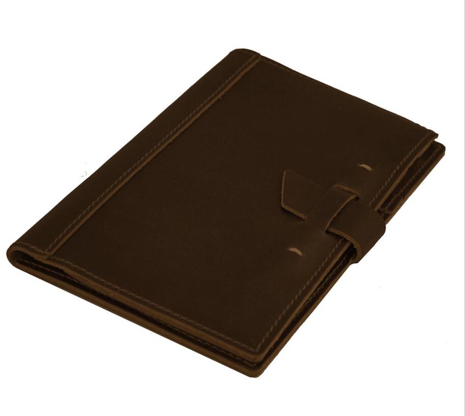 "Rustico Leather Legal Pad 8"" x 5"" Size Portfolio-Burgandy"