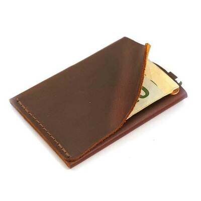 Rustico Commuter Leather Wallet-Burgandy
