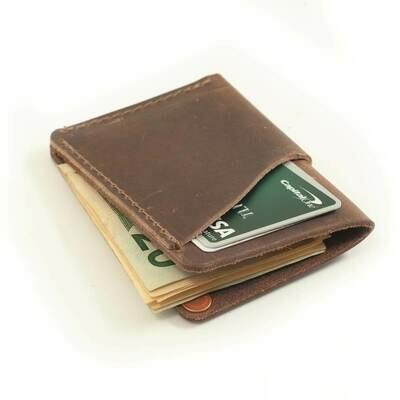 Rustico Wave Wallet-Dark Brown