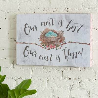 Our Nest is Blessed Wall Art