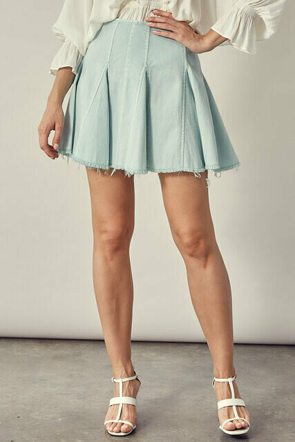 Cut Edge Denim Skirt