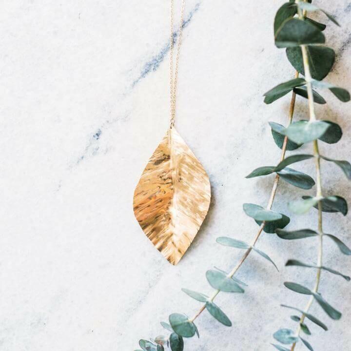 """30"""" Leaf Necklace 14K Gold Filled skuTSN104"""