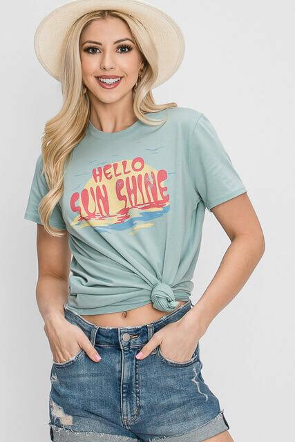 """Hello Sunshine"" Graphic Tee"