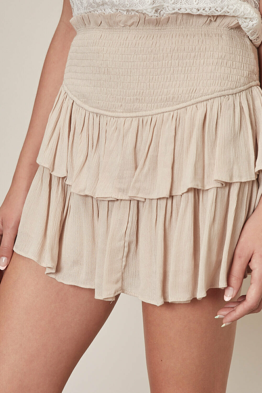 Ruffle Mini Skirt With Shorts