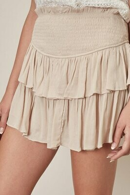 Ruffle Mini Skirt With Shorts