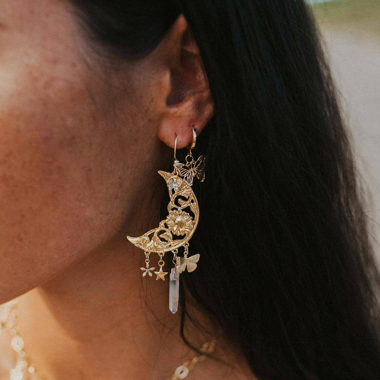 Secret Garden Moon Earrings