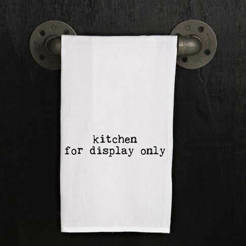 Kitchen For Display Only Hand Printed Towel