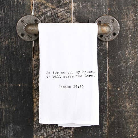 As For Me And My House Joshua 24:15 hand printed towel